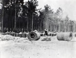 Gabions in camp at Petersburg
