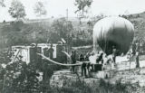 Observation balloon inflated