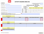 Activity Hazard Analysis Form