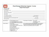 Flood damage reduction segment/system inspection report