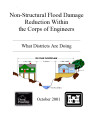 Non-structural flood damage reduction within the Corps of Engineers: What districts are doing