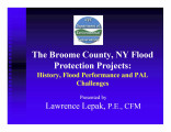 The Broome County, NY flood protection projects