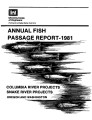 1981 annual fish passage report: Columbia and Snake Rivers for salmon, steelhead and shad:...
