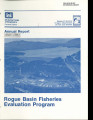 Annual report, Rogue Basin Fisheries Evaluation Program
