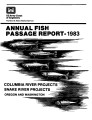 1983 annual fish passage report: Columbia and Snake Rivers for salmon, steelhead and shad:...