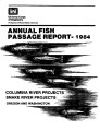 1984 annual fish passage report: Columbia and Snake Rivers for salmon, steelhead and shad:...