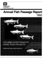 1993 annual fish passage report: Columbia and Snake Rivers for salmon, steelhead and shad:...