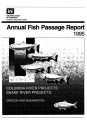 1995 annual fish passage report: Columbia and Snake Rivers for salmon, steelhead and shad:...