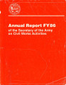 [1986 Chief's annual report]; Annual report FY86 of the Secretary of the Army on Civil Works...