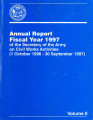 [1997 Chief's annual report]; Annual report fiscal year 1997 of the Secretary of the Army on Civil...