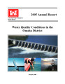 2005 annual report: Water quality conditions in the Omaha District