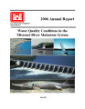 2006 annual report: Water quality conditions in the Missouri River Mainstem System