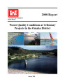 2008 report: Water quality conditions at tributary projects in the Omaha District