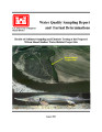 Water quality sampling report and factual determinations: Results of sediment sampling and...